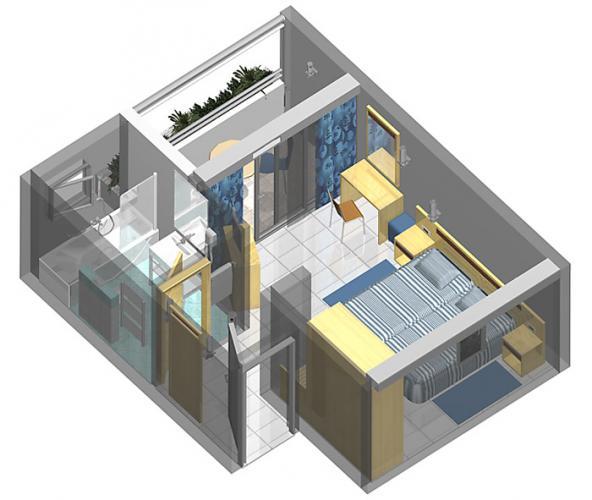Doppelzimmer Balkon  (3 Personen)