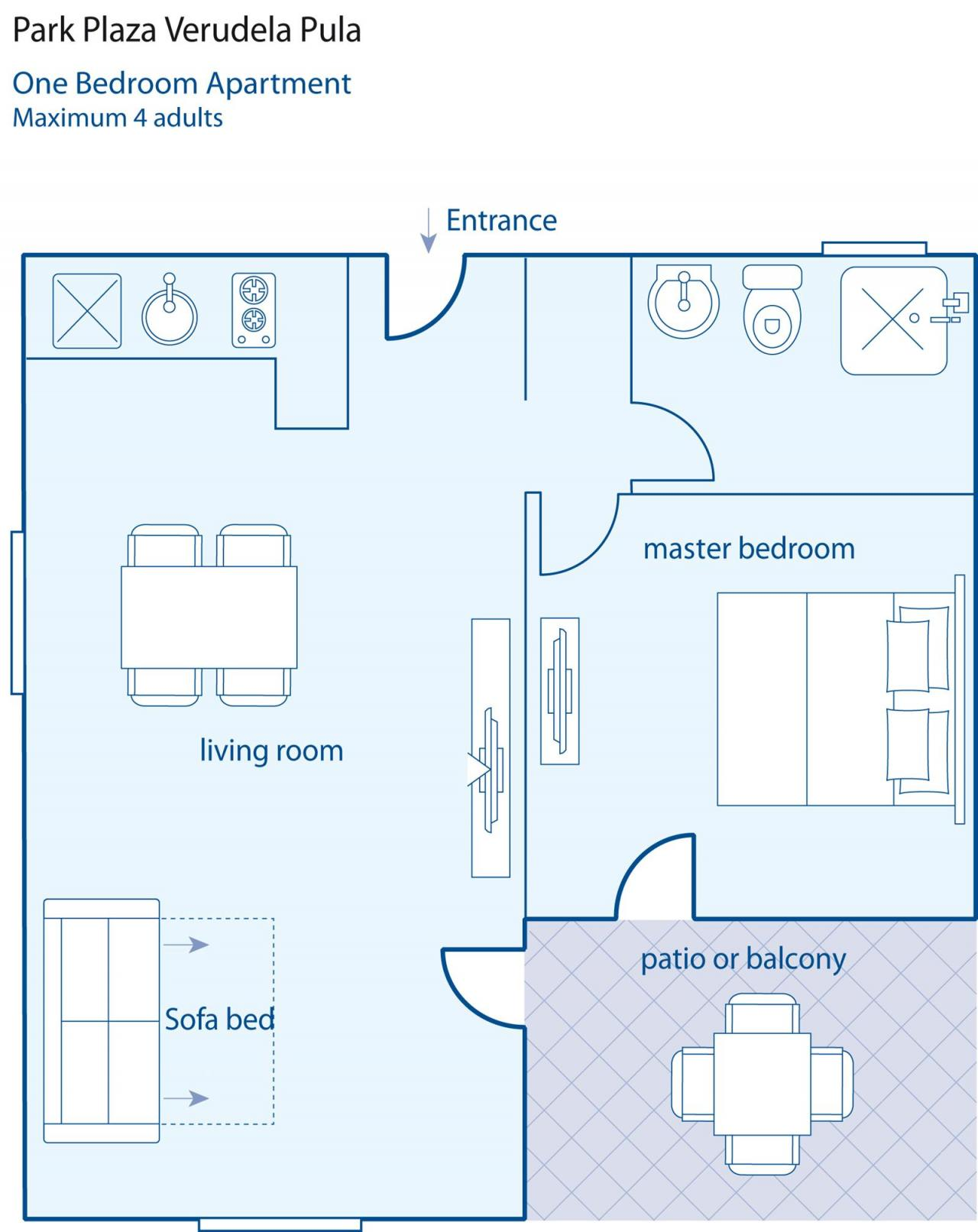 ferienanlage park plaza verudela pula a 2 4 objekt nr. Black Bedroom Furniture Sets. Home Design Ideas