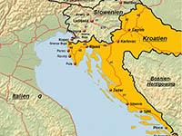 karte deutschland kroatien Anreise nach Kroatien mit dem Auto | von Kroati.de √