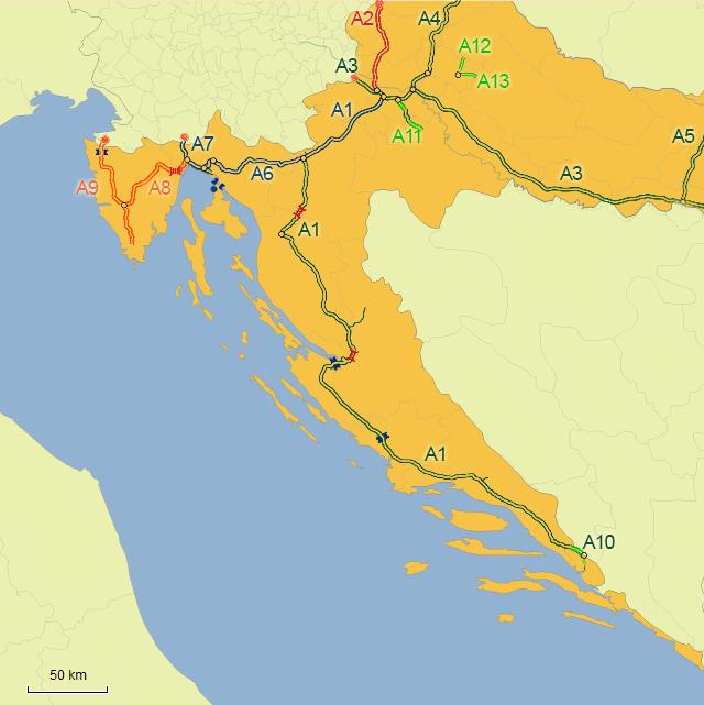 Istrien Karte Zum Ausdrucken.Reiserouten Nach Kroatien Routenplaner Karten