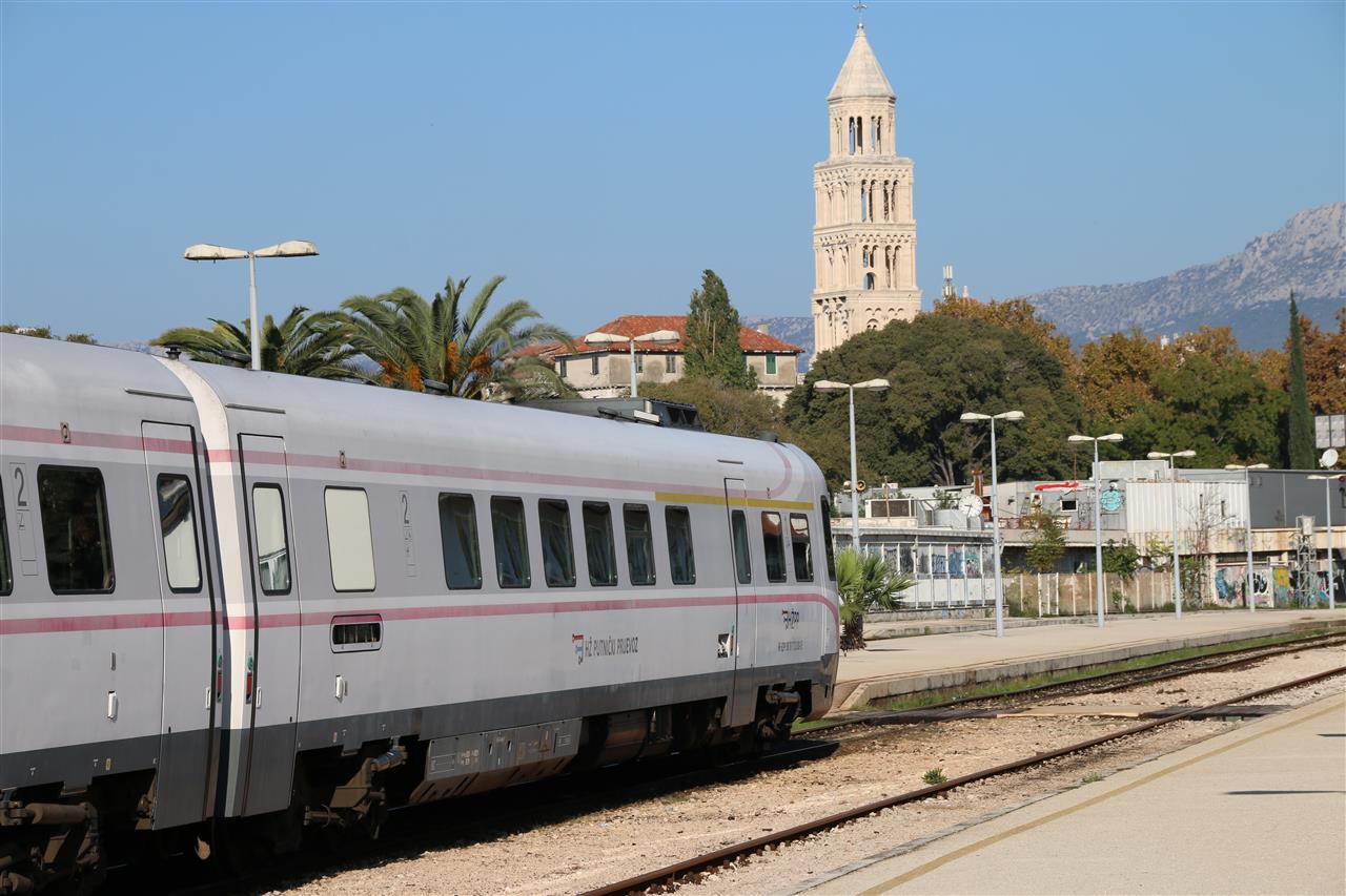 Bahnverbindungen Innerhalb Von Kroatien überblick