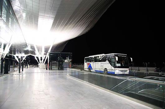 Flughafen Zagreb, Kroatien - Busshuttle
