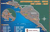 Karte - Buslinien Dubrovnik Ost