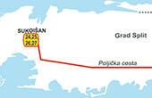 Karte Busverbindungen Vororte Split