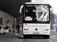 Bus ab Flughafen in Kroatien
