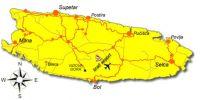 Karte - Flughafen Brac
