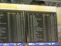 Flughafen Info-Tafel Flüge