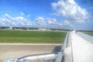 Flughafen Pula - Landung