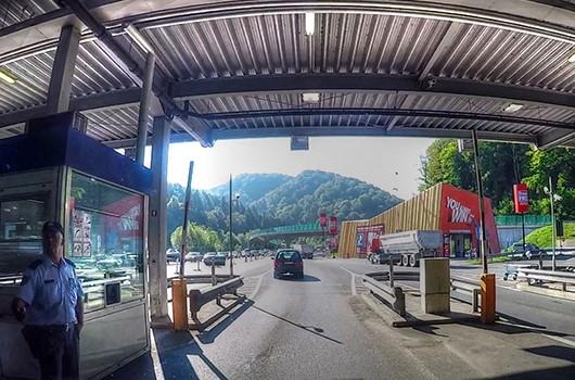 Grenzübergang Slowenien - Kroatien