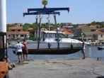 Kran für Boote in Jezera