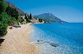 Strand in Brist, Dalmatien