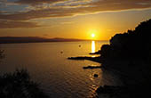 Bucht, Sonnenuntergang