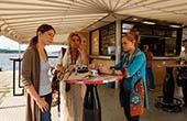 Unterwegs mit Elsa - Stehcafe in Pula
