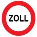 Zollschild Kroatien