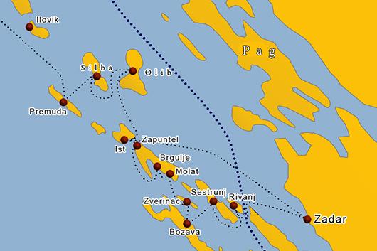 Fähre Insel Ist Kroatien