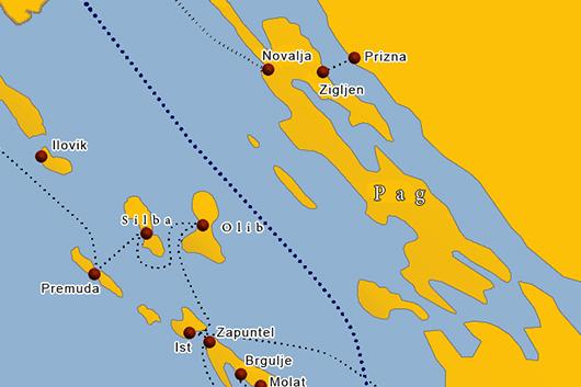 Fähre Insel Silba