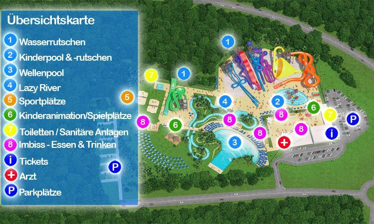 Aquacolors Porec - Übersichtskarte