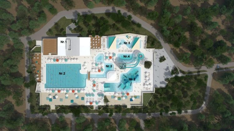 Aquapark Cikat - Plan