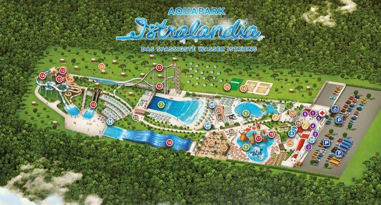 Aquapark Istralandia- Übersichtskarte