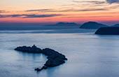 Sonnenuntergang Dubrovnik, Insel Grebeni