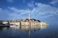 Die malerische Stadt Rovinj in Istrien