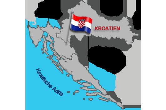 Kroatien Karte