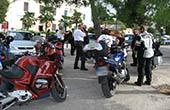 Motorradfahrer, Pause