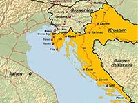 Straßennetz Kroatien, Karte