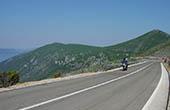 Motorradfahrer, Küstenstraße Kroatien