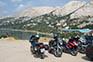 Motorradtour, Küste Kroatien
