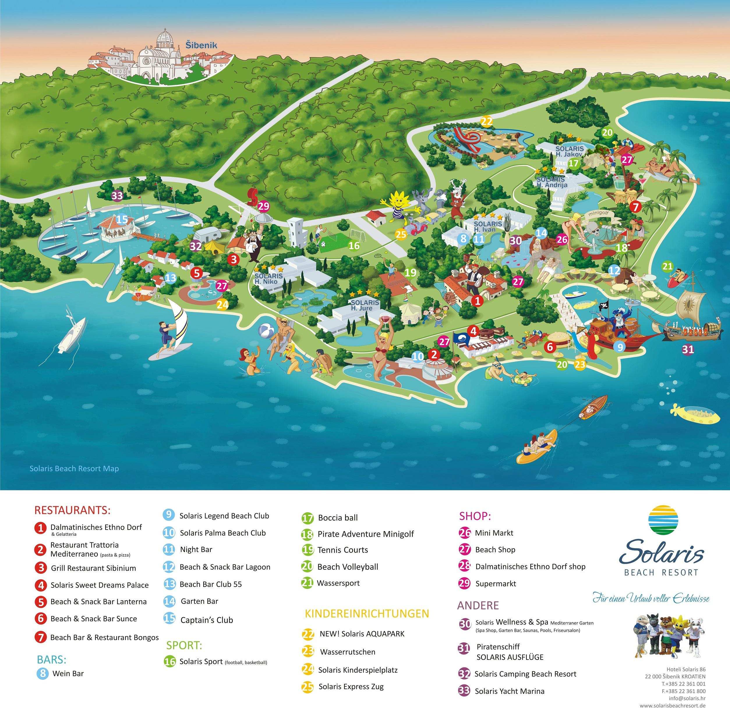 Hotel Villa Del Parco Mappa