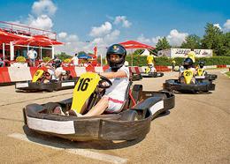 Kartfahrer kurz vorm Start