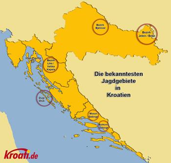 Karte Jagd Kroatien