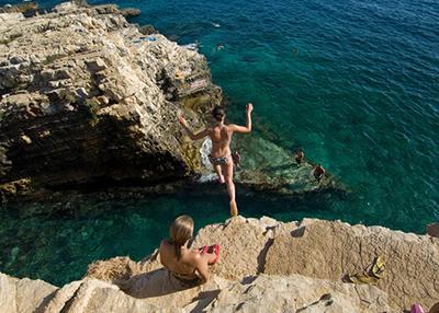 Klippensprigen in Kroatien