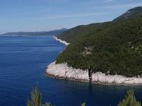Radroute zur Bacva Bucht