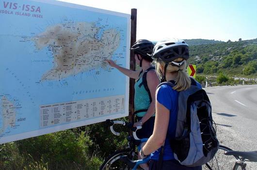 Radtour auf der Insel Vis