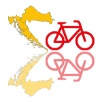 Symbol Fahrradverleih Dalmatien