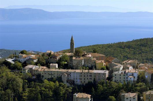 Radroute Istarski razvod - Rabac-Labin, Istrien, Kroatien