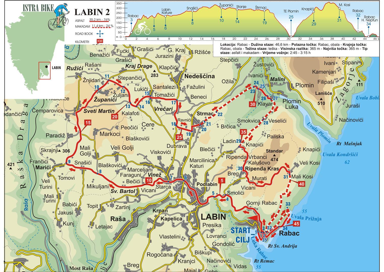 Istrien Karte Rabac.Karte Kroatien Rabac Kleve Landkarte