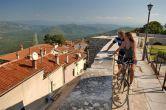 Radfahren Umag-Novigrad - Aussicht Motovun