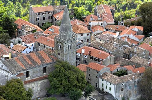 Radroute Feenroute - Groznjan, Istrien, Kroatien