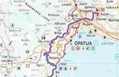 Übersichtskarte  Radroute durch die alten Städte Liburniens