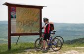 Radfahren Kroatien - Hinweistafel