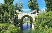 Zdrioc Brücke, Crnisevo See, Bacina Seen