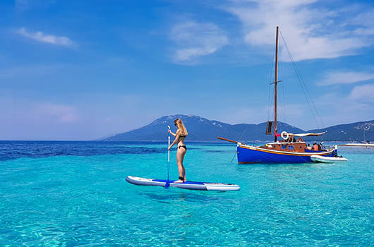 SUP - Stand up Paddling in Kroatien