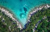 Luftaufnahme SUP, Küste Split