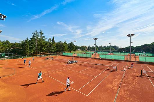 Tennis in Kroatien - Tennisplätze Novigrad, Umag