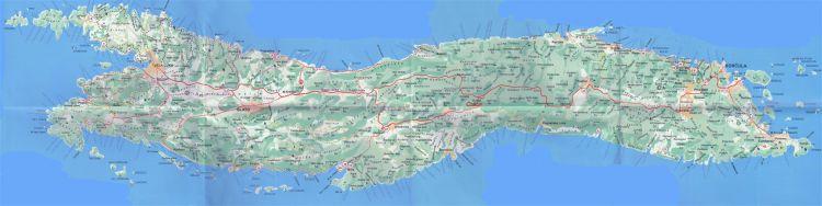 Insel Korcula - Wanderkarte