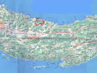Karte Wanderweg Sudbinska luka - Korcula