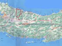 Korcula - Wanderweg Tragom Povijesti Karte